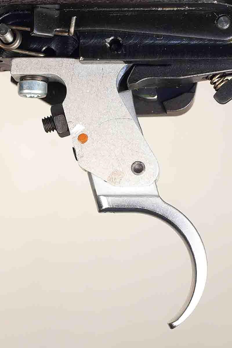 The CZ's trigger is adjustable, but the trigger came set at 2 pounds with no creep or overtravel.