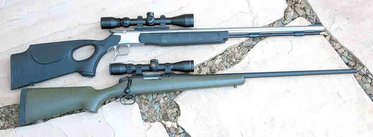 Connecticut Valley Arms (CVA) muzzleloaders (top) and bolt-action Bergara custom rifles feature barrels made in Bergara, Spain. Both companies are operated under Black Powder Incorporated, as are several other firearms-related brands.