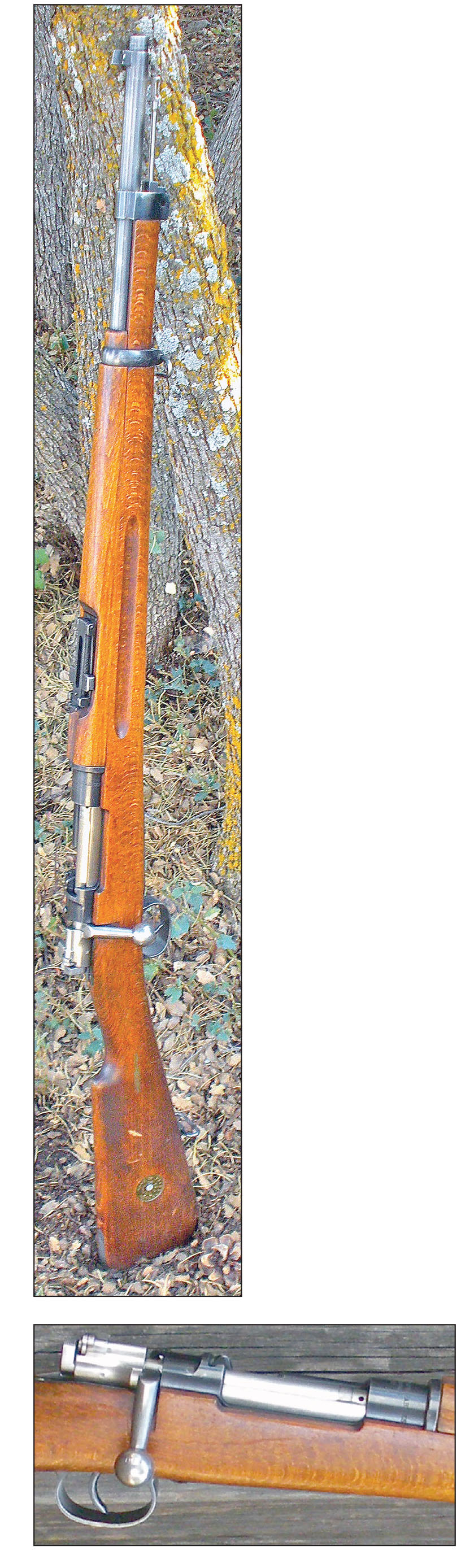 This Model 96 6.5x55 Short Rifle manufactured by Husqvarna Vapenfabriks Aktiebolag in 1942 is one of three rifles Dave purchased in the early 1990s. If it and the other two saw use during World War II, they don't show it.
