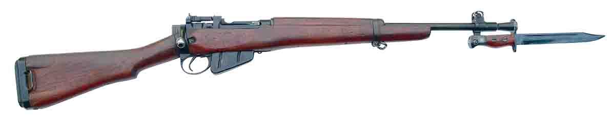 The Lee-Enfield No. 5, Mk I with bayonet.