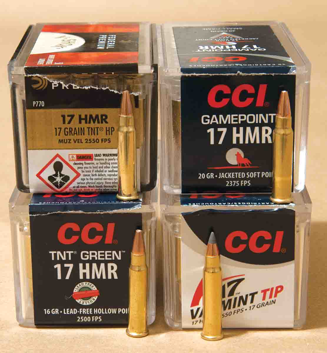 Today .17 HMR loads are marketed by Hornady, Federal, CCI, Remington and Winchester.