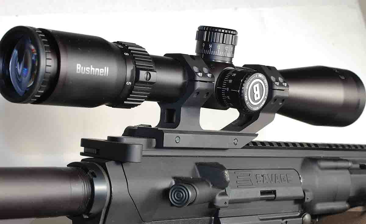 The addition of a Bushnell Engage 3-12x 42mm scope brought the weight of the MSR 10 Hunter up to 9 pounds, 14 ounces.
