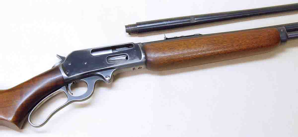This Marlin 336 was chambered for a weird .30-30 wildcat. A take-off replacement barrel was found on the Internet for $20!