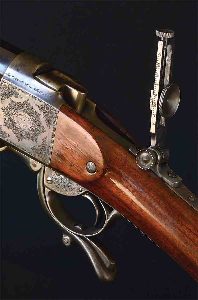 This Gibbs-Farquharson-Metford long-range target rifle built by George Gibbs to the Farquharson patent using Metford rifling is one of the great target rifles of all time.