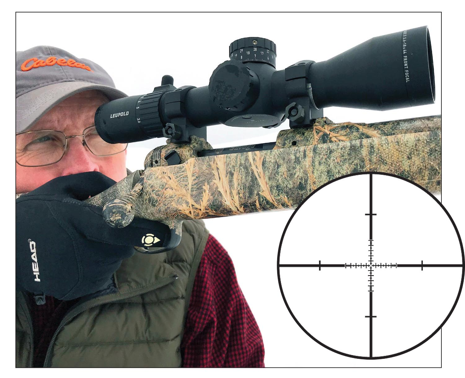 The Leupold Mark 5HD 3.6-18x 44mm scope with Tactical Milling Reticle, measuring roughly 12 inches in length, fits well on a short-action rifle.