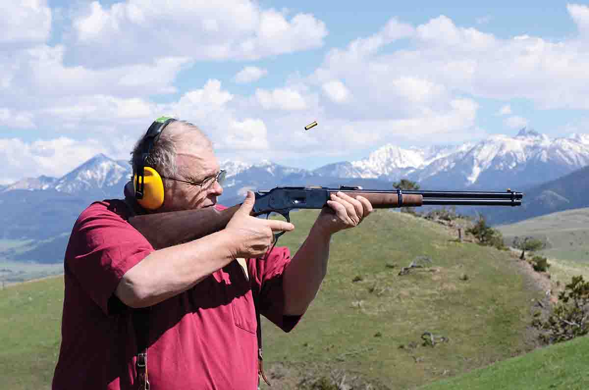 The operation of the new Winchester saddle ring carbine Model 1873 .38 Special/.357 Magnum was smooth.