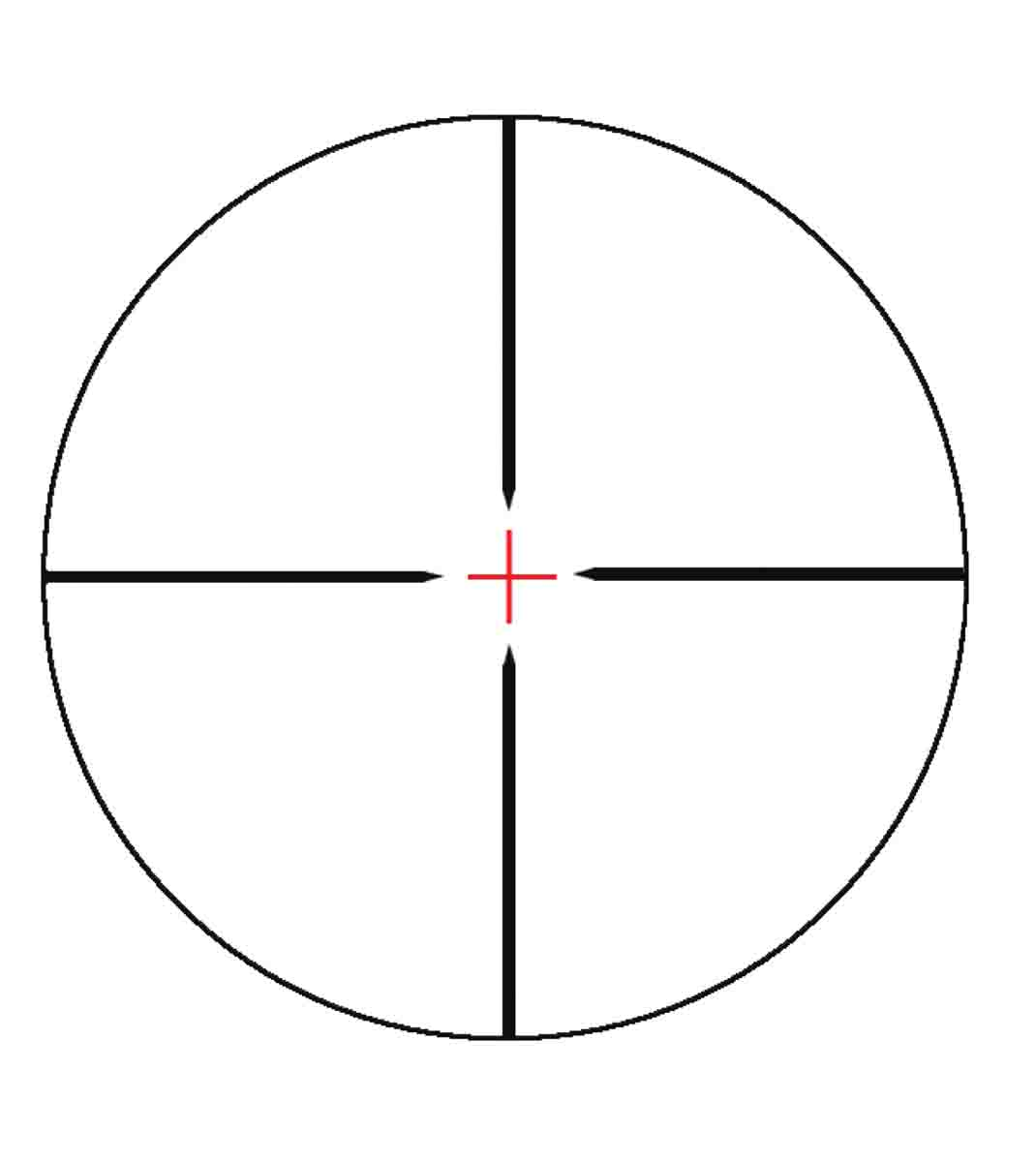The Konus 30/30 reticle features a lighted cross at its center.