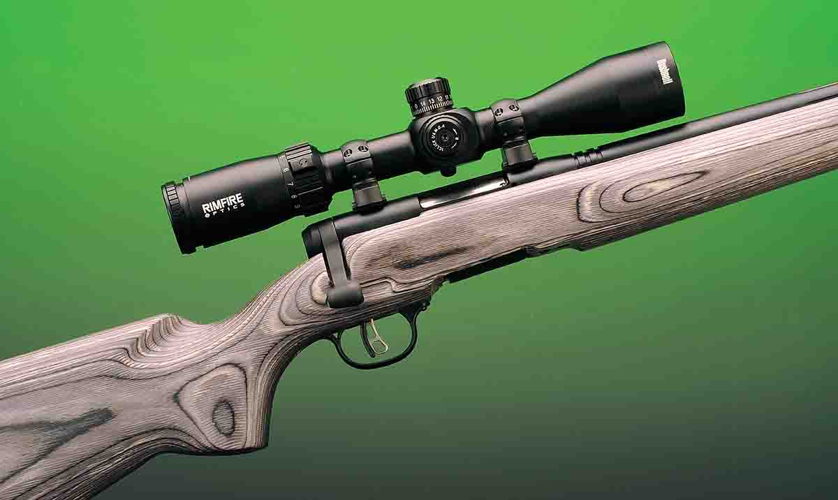 The Savage B.Mag Beavertail .17 WSM is well designed for field shooting, and with the addition of a Bushnell 3-9x 40mm scope, it is ready for small-game hunting.