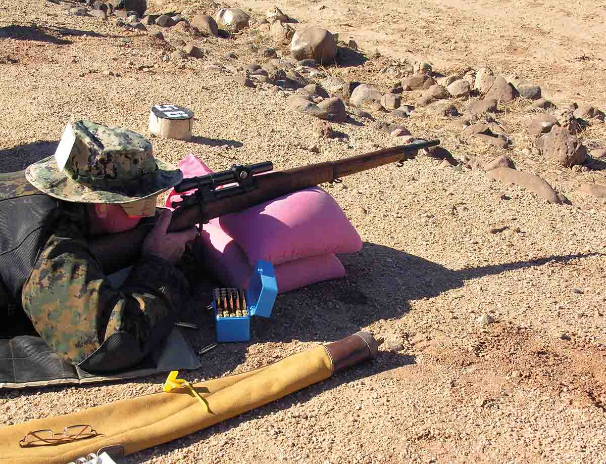 When shooting in competitions such as CMP sniper matches, sandbag rests are permitted, so competitors should practice from them.