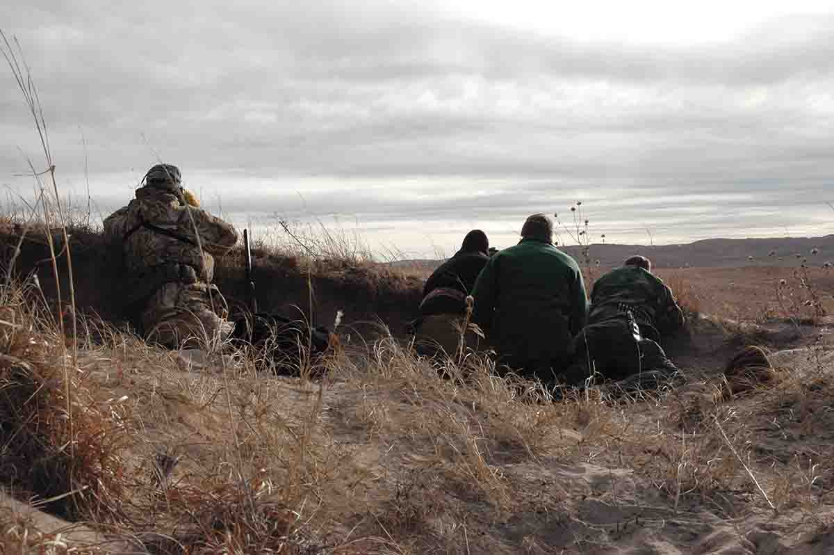 Situations like this are common in the field, so marksmanship should be practiced from unusual positions before hunting.