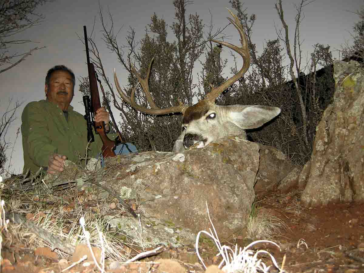 This fine Arizona buck was shot with a Nosler 6mm 100-grain Partition that nearly penetrated the length of the deer.
