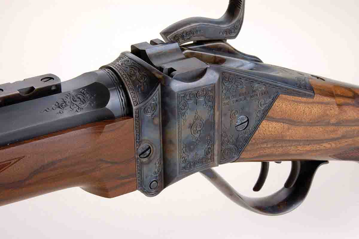 This beautifully engraved Sharps Model 1874 is a product of Shiloh Rifle Manufacturing.