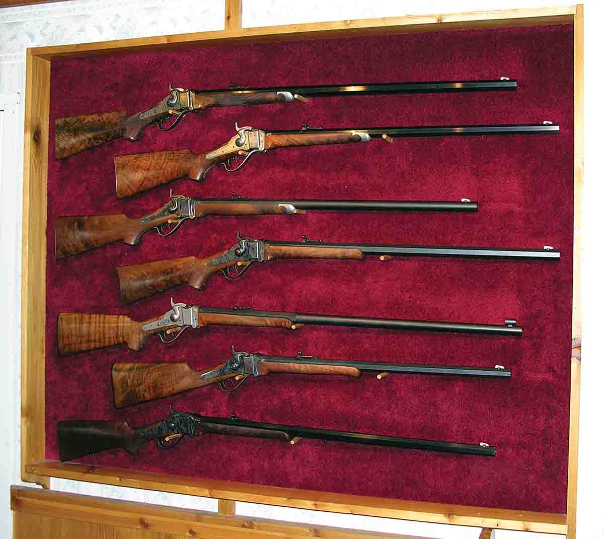This is just one display of many at the Shiloh Rifle Manufacturing Company showroom in Big Timber, Montana.