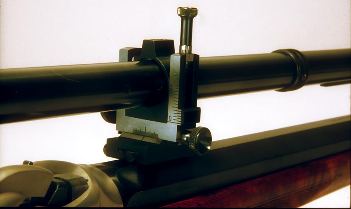 Note the precision adjustments Montana Vintage Arms uses in its single-shot scope mounts.