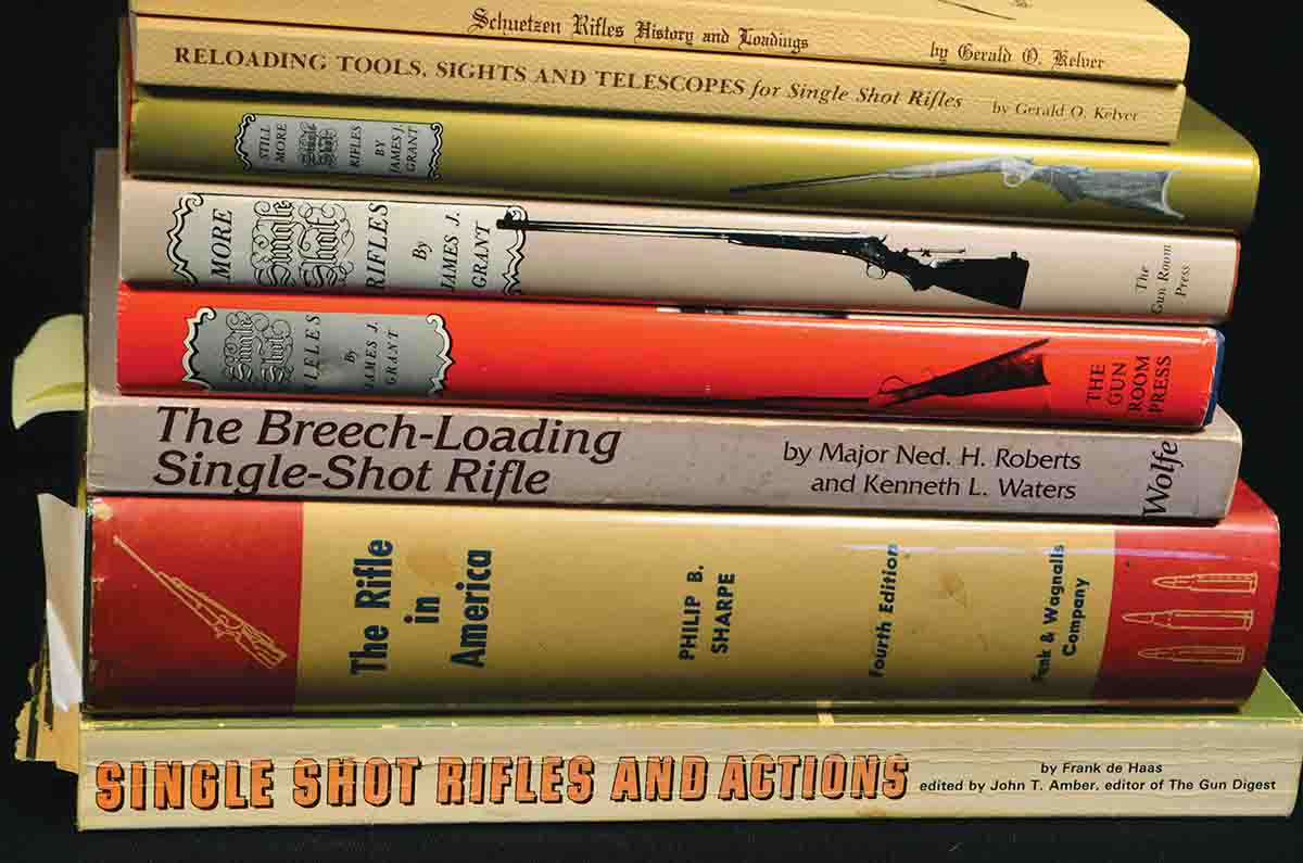 A selection of books is required by any serious student of Stevens rifles – or American single-shots in general. There are two more James J. Grant books that are worth having, too, but they are not cheap.