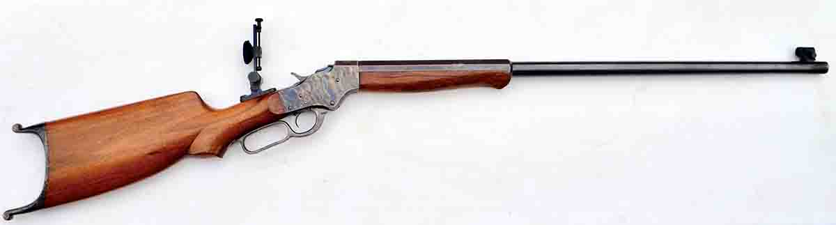 "This Model 47 ""Model Range"" .20-25 Single Shot is built on a No. 44½ action. The sights were made by Lee Shaver, the well-known gunsmith and target shooter."