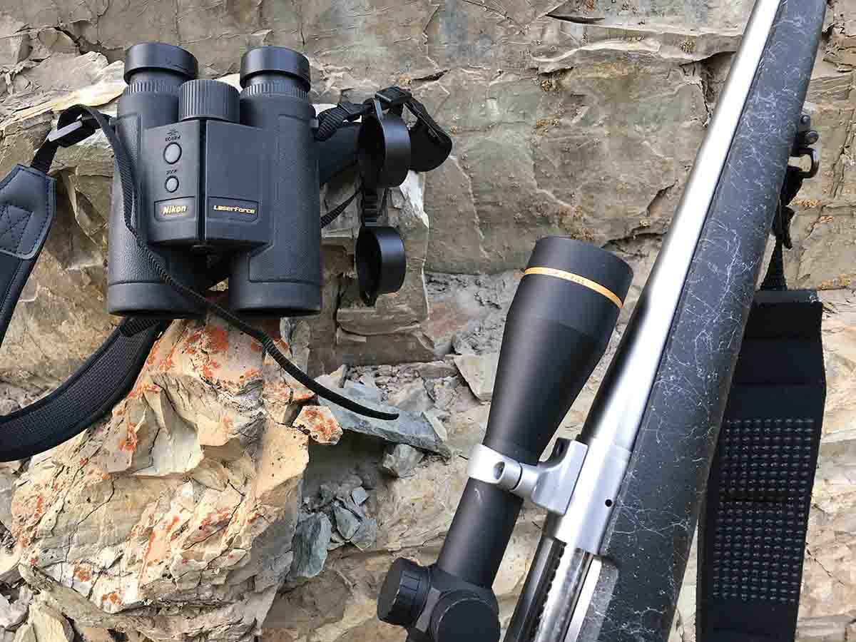 The Nikon LaserForce 10x42mm rangefinding binocular is very compact. Despite its lack of an onboard ballistic program, it worked fine while hunting elk.