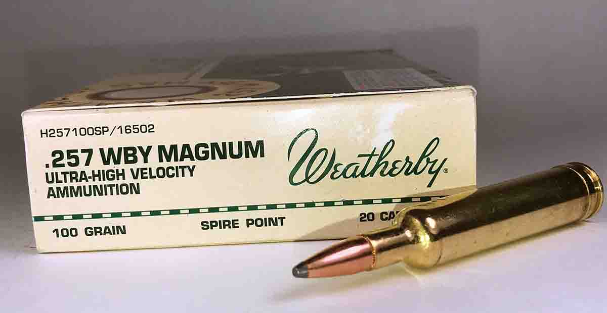 Weatherby offers seven different loads for the .257 Weatherby Magnum including Hornady 100-grain Spire Point bullets with an advertised muzzle velocity of 3,602 fps.