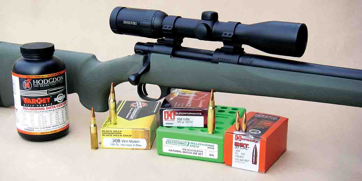 A Swarovski Z6 1.7-10x 42mm variable scope was used to evaluate accuracy of the Howa Model 1500 Hogue .308 Winchester.