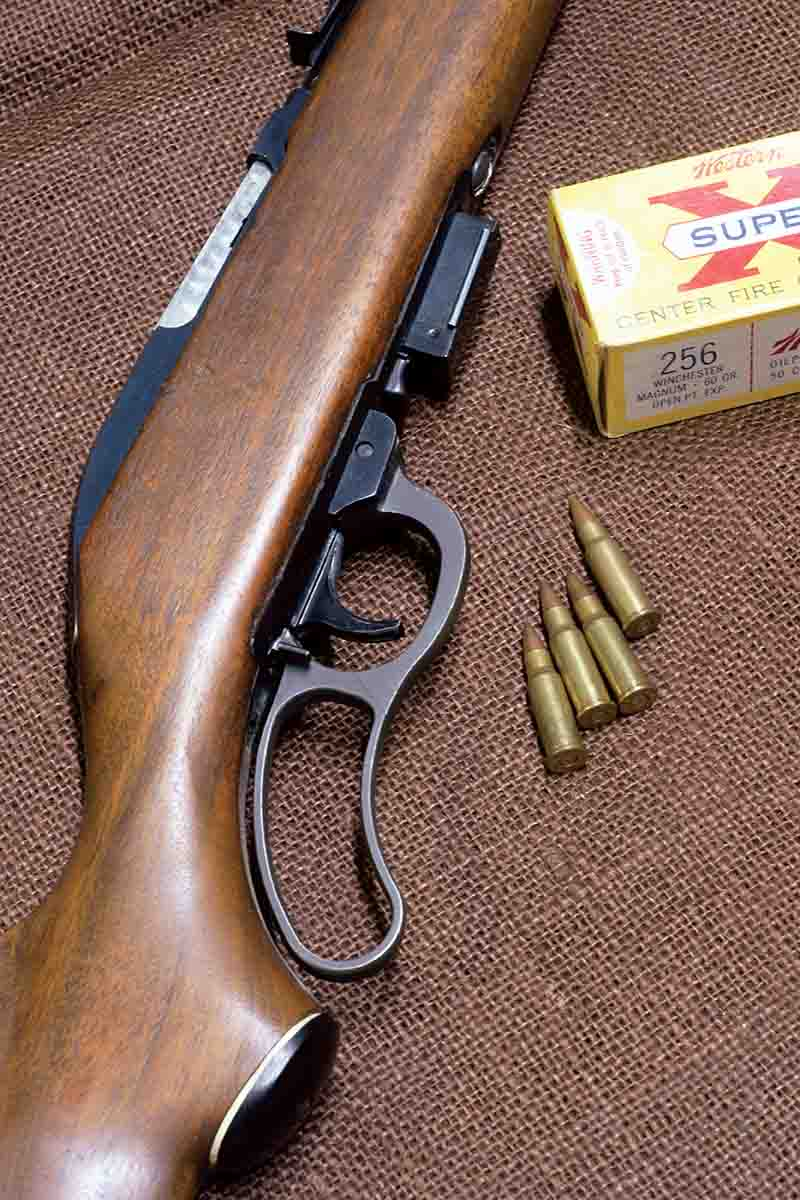 The Marlin Model 62 Levermatic was originally chambered in the equally short-lived .256 Winchester Magnum.
