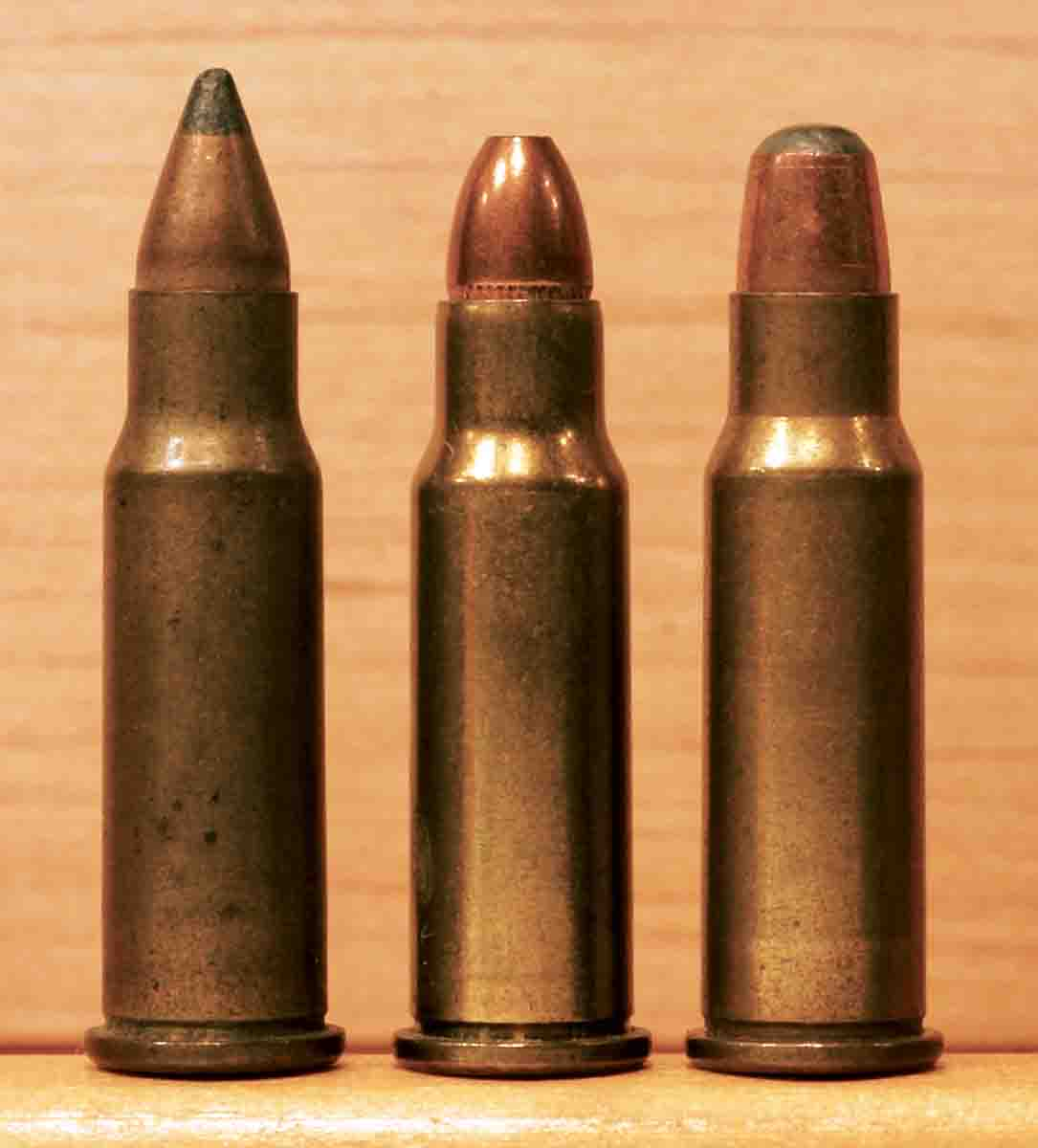 Ammunition for the .256 Winchester Magnum was made only by Winchester, but under both the Winchester-Western and Super-X brands. At various times, it was offered with spitzer, roundnose, and hollowpoint bullets, all 60 grains.