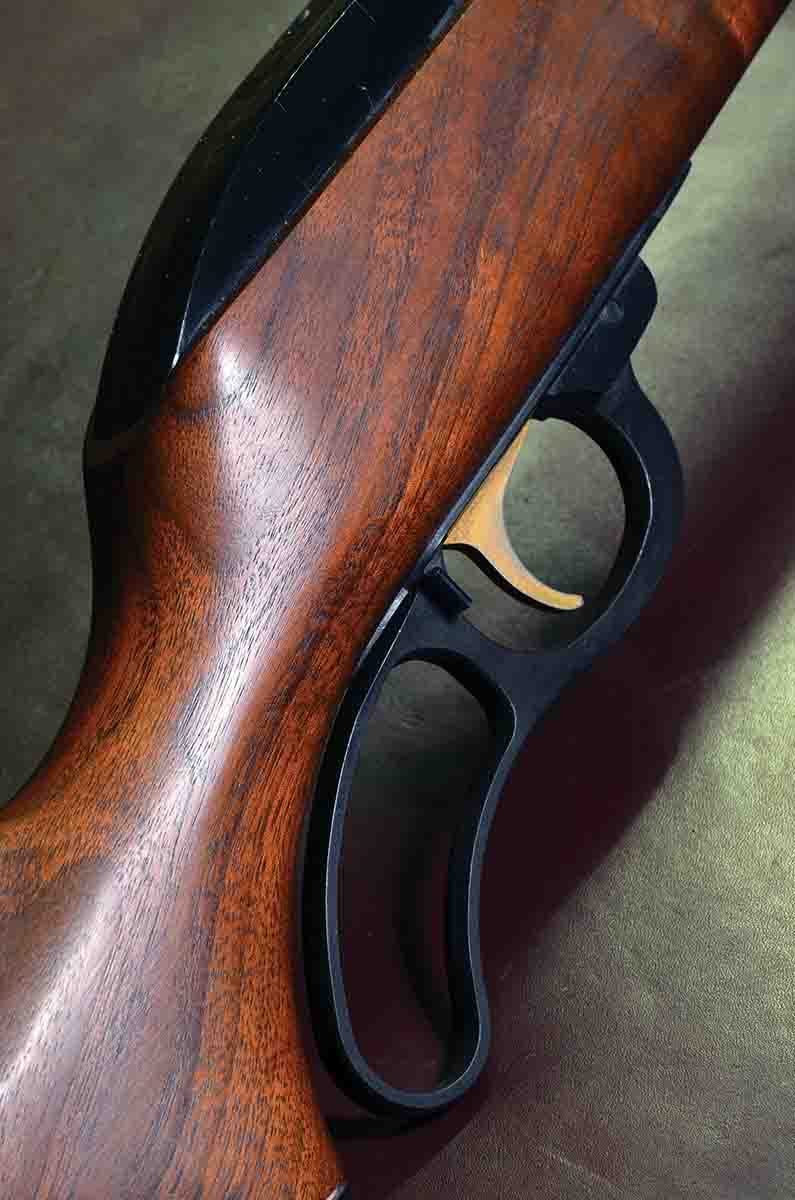 This Marlin Model 57's stock was fashioned from a lovely piece of American walnut. Not all Levermatics have such nice wood, but many do, and all are very presentable.