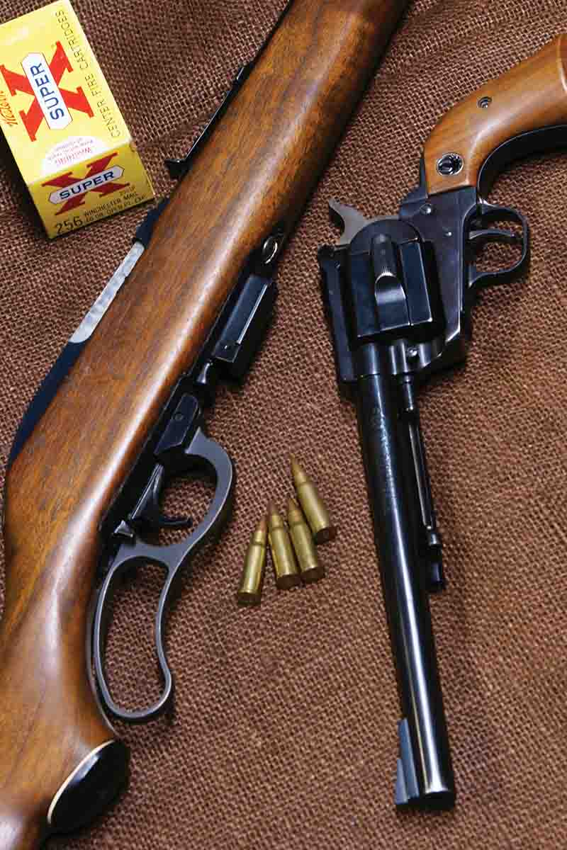 Aside from a few Thompson/Center Contenders, the only firearms chambered for the .256 Winchester Magnum were the Marlin Model 62 Levermatic and the Ruger Hawkeye.