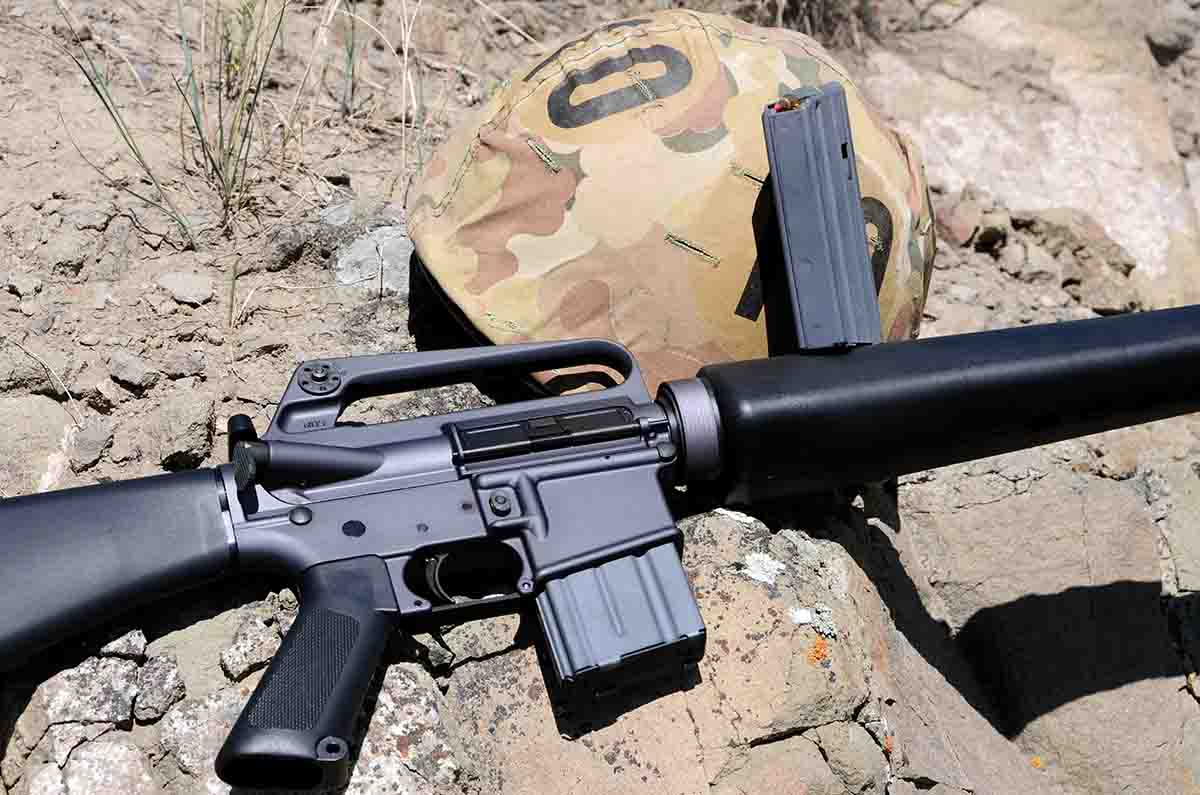 Brownells' BRN16A1 is a semiautomatic re-creation of the U.S. M16A1.