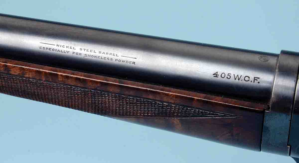 Although commonly called .405 Winchester, its name as applied on some Model 1895s is .405 WCF.