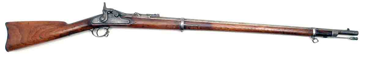 "This Model 1868 .50-70 ""trapdoor"" is an early infantry rifle."