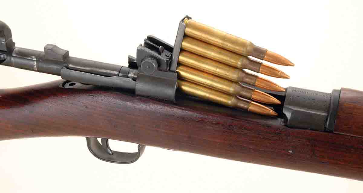 U.S. Model 1903s, 1903A3s and Model 1917s were all designed to use five-round stripper clips inserted from the top of the receiver.