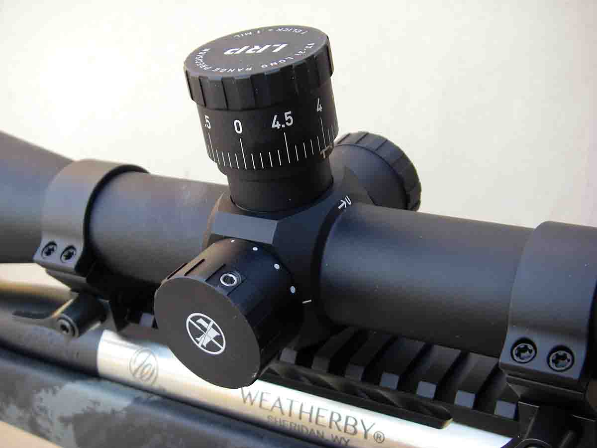 Brian used a Leupold VX-3i LRP 6.5-20x 50mm scope to test the new rifle and cartridge.