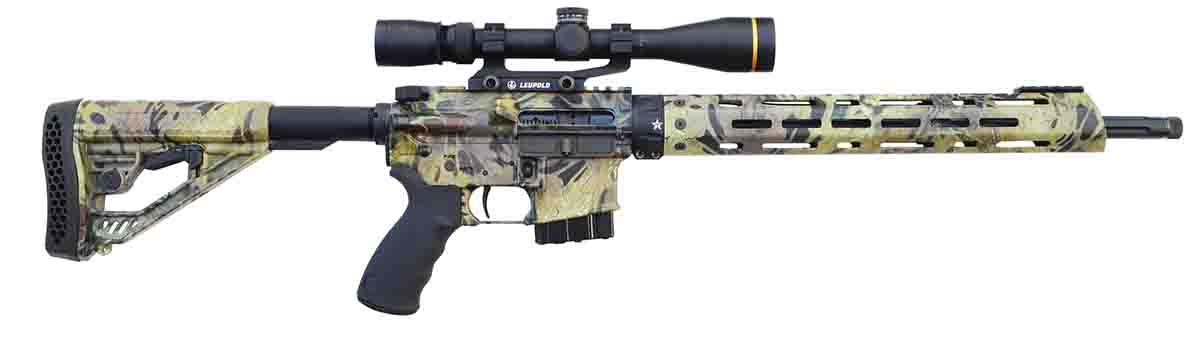 Alexander Arms' new AR Hunter. It minimizes the AR while maximizing its virtues as a hunting rifle.