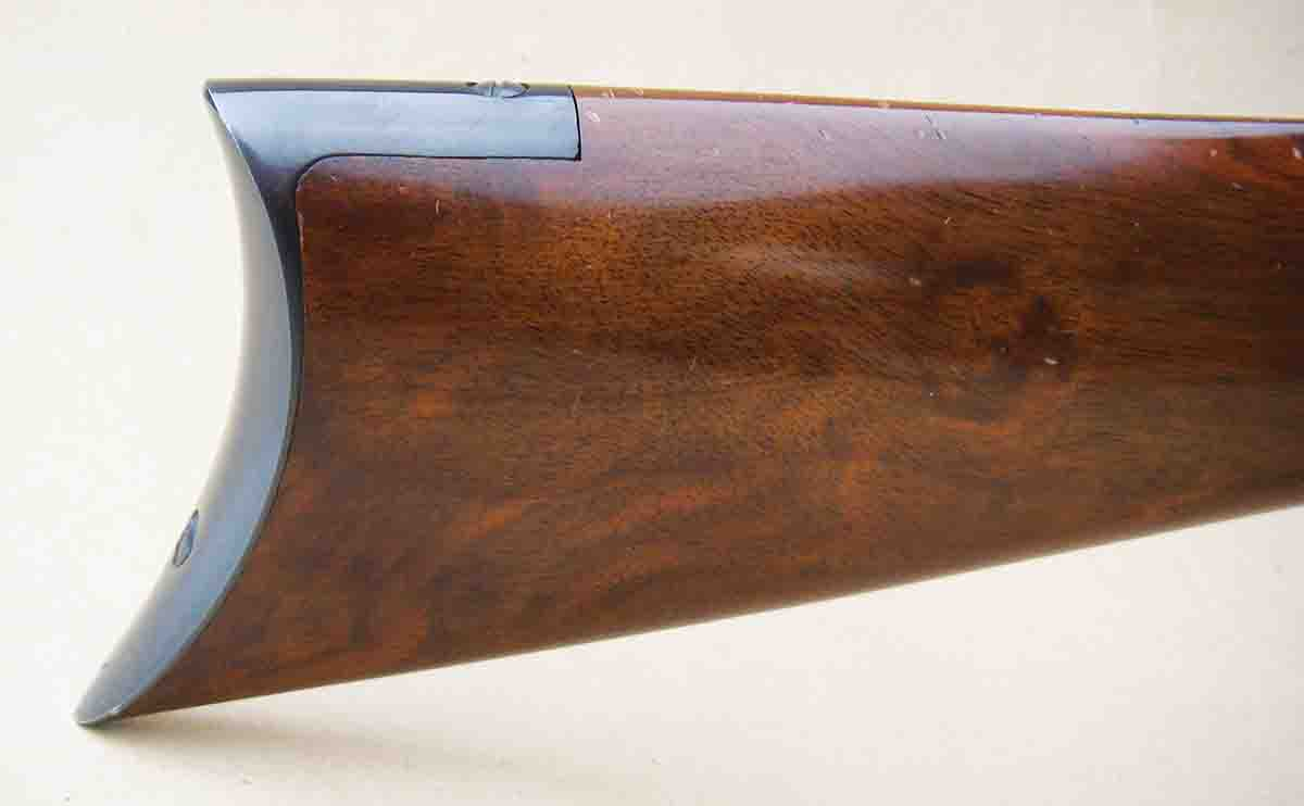 The rifle features attractive European grade A walnut and a steel crescent buttplate.