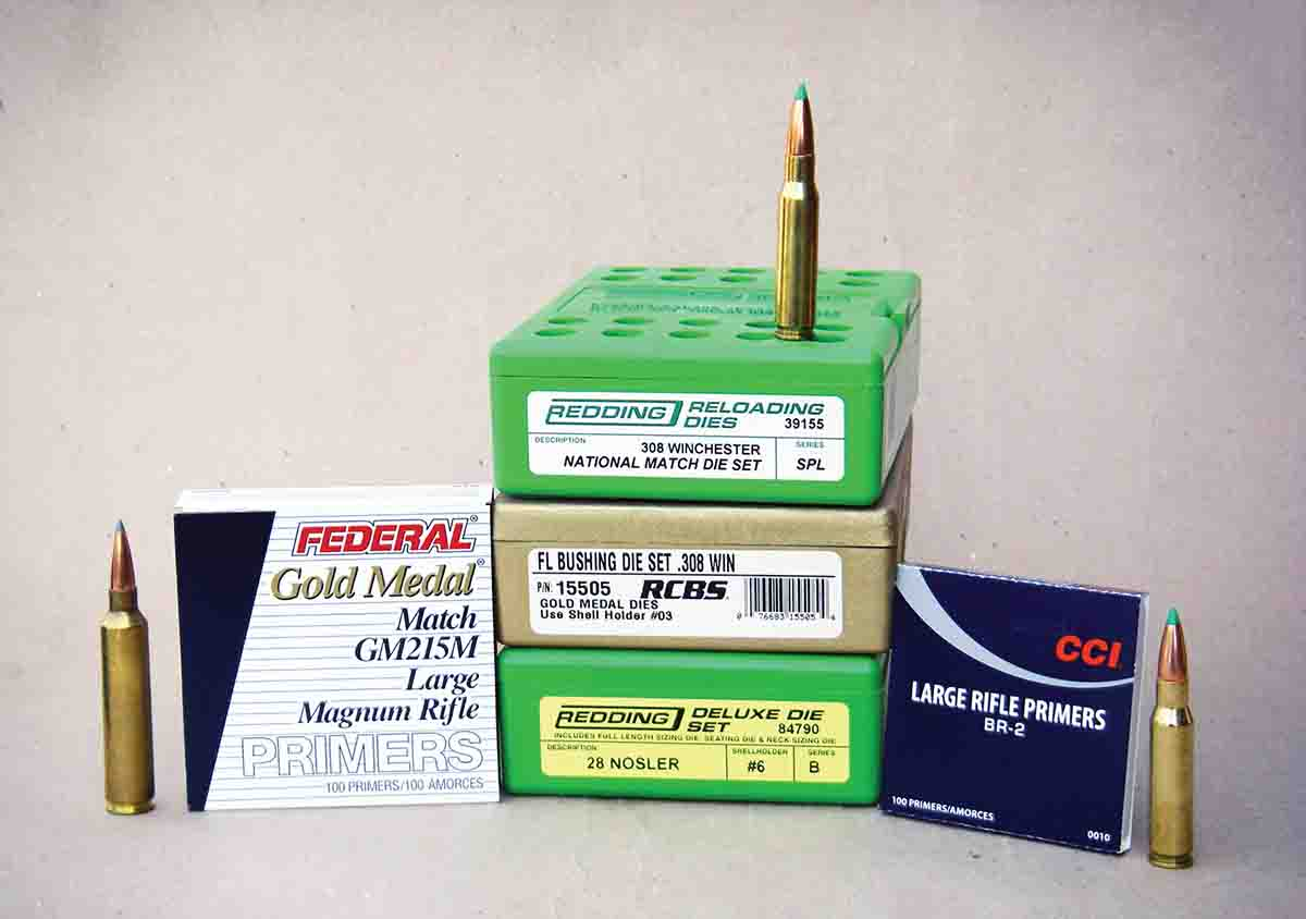 Quality dies and match primers will help produce accurate handloads.