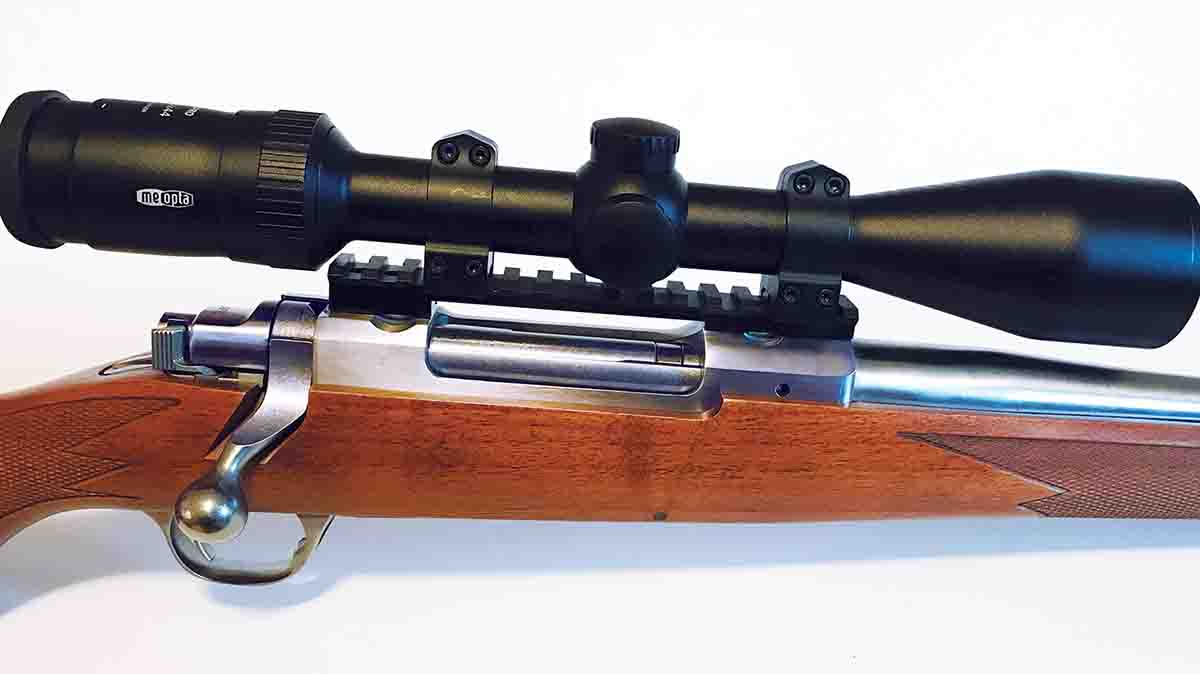 The scope rail is handy for adding clamp-on mounts. However, a scope sits high on the rifle.