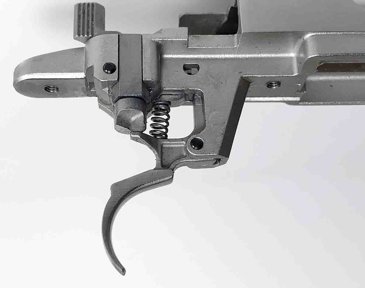 The LC6 trigger is not adjustable. LC6 stands for Light, Crisp and 2006 (when it was introduced).