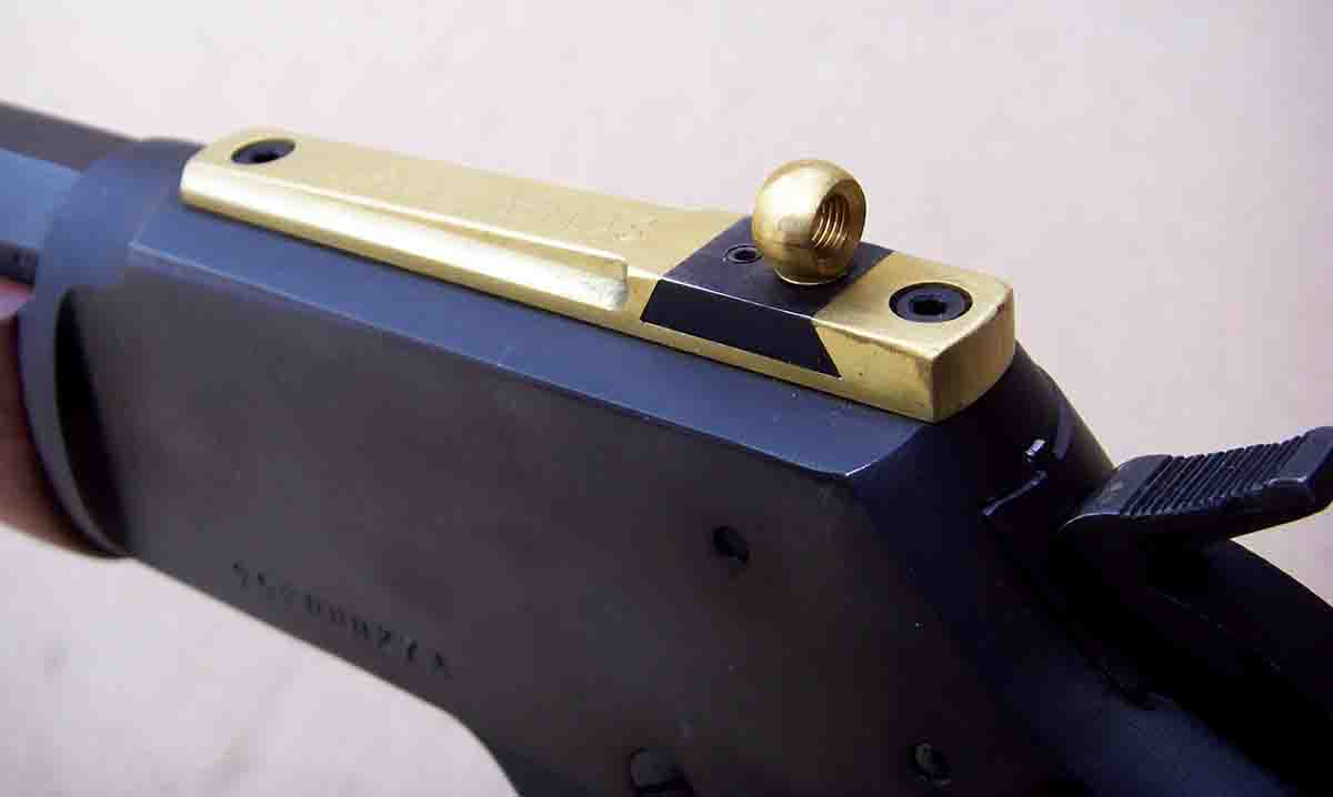 The Skinner Express Peep sight is available in brass, stainless steel or blued steel finishes.