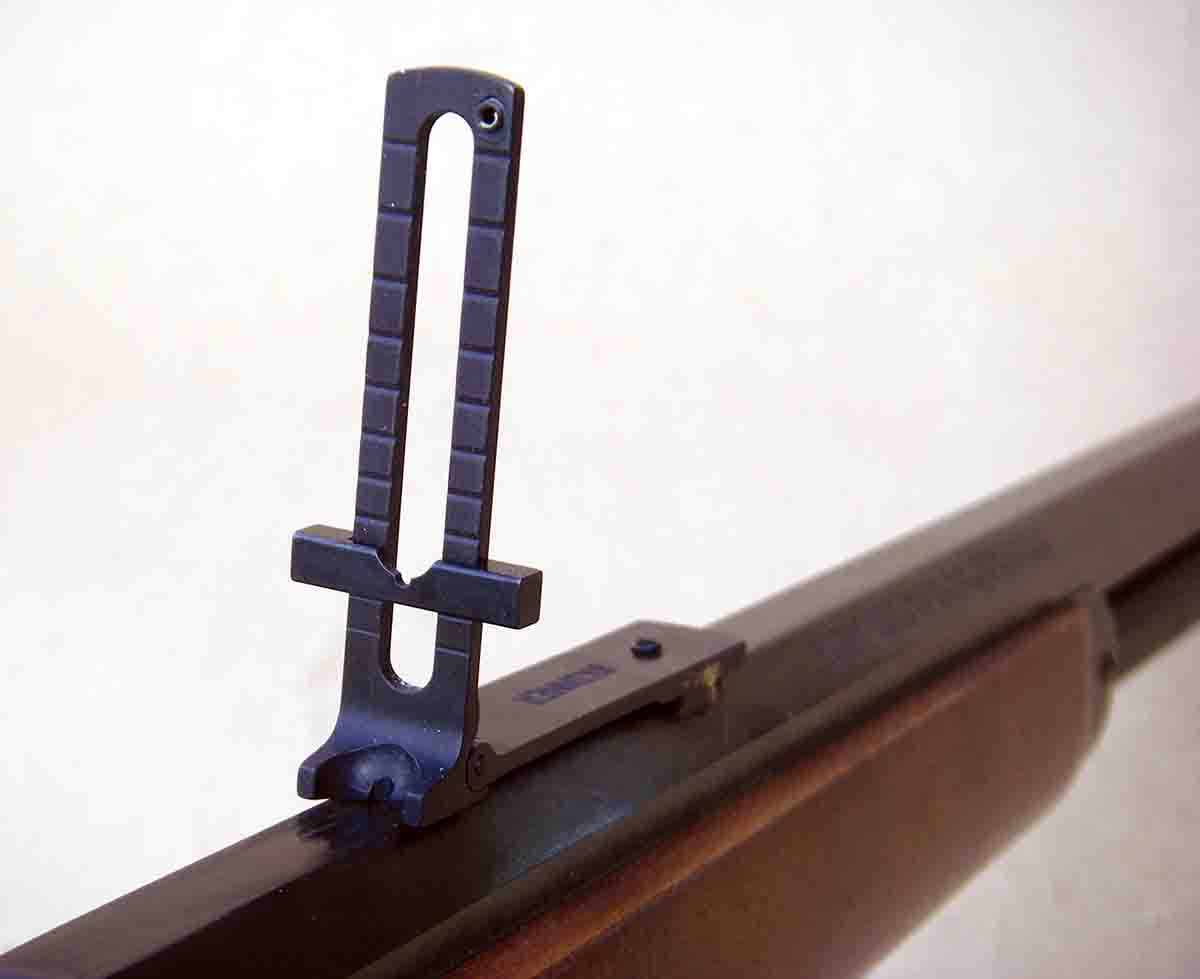 The Skinner Ladder sight is patterned after sporting sights that were common during the late nineteenth-century.