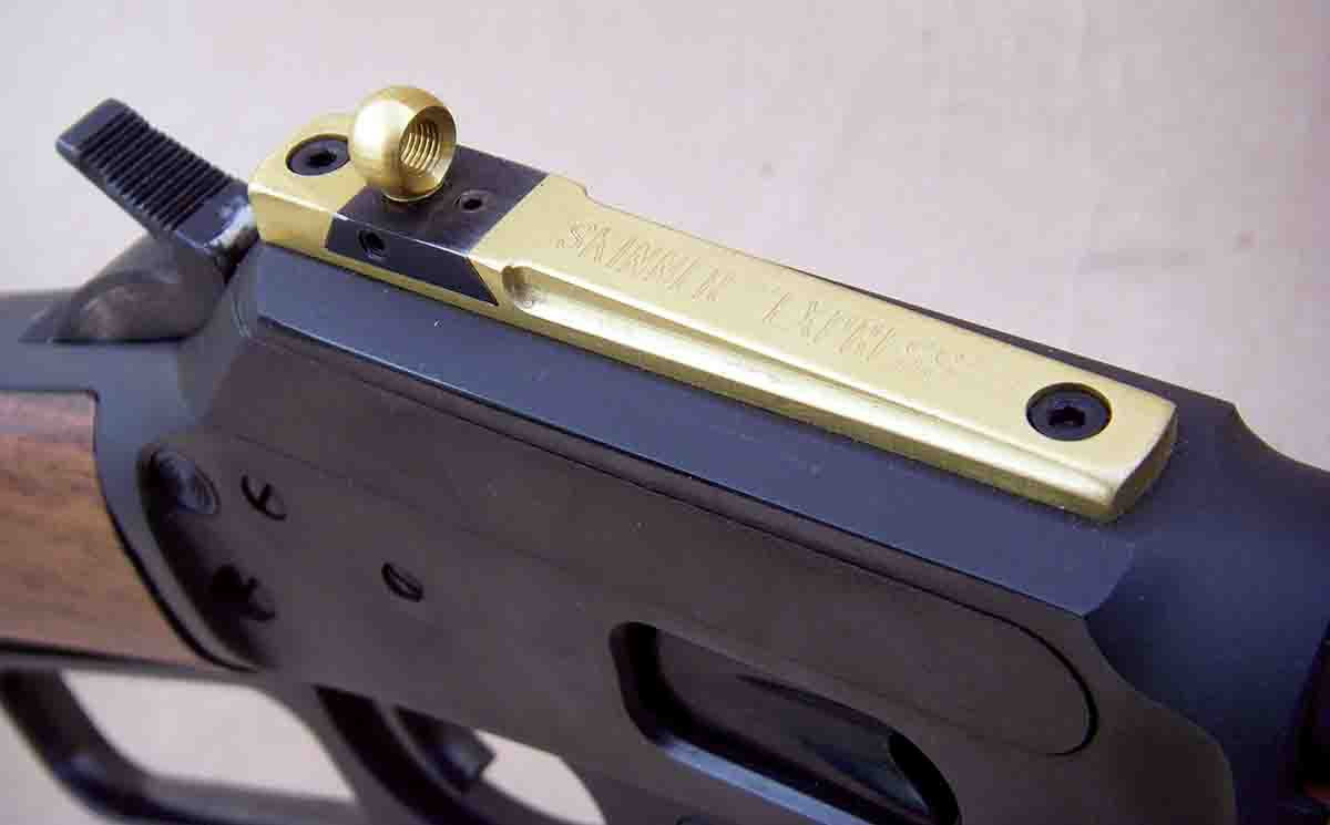 The peep express features a dovetail for windage adjustments, and the peep can be turned up or down to adjust elevation.