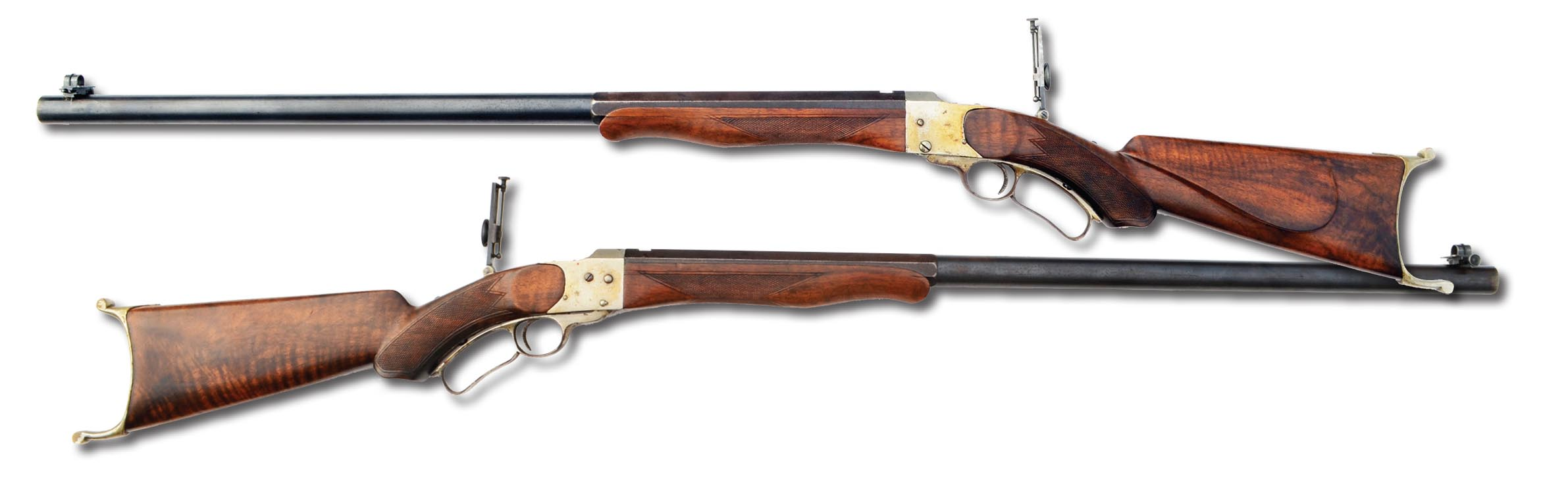 "A ""grade one"" Farrow rifle. The ""grade two"" had plainer walnut and no checkering. The Farrow was one of the sleekest and most graceful of all the American single shots and deserves to be more widely known than it is."