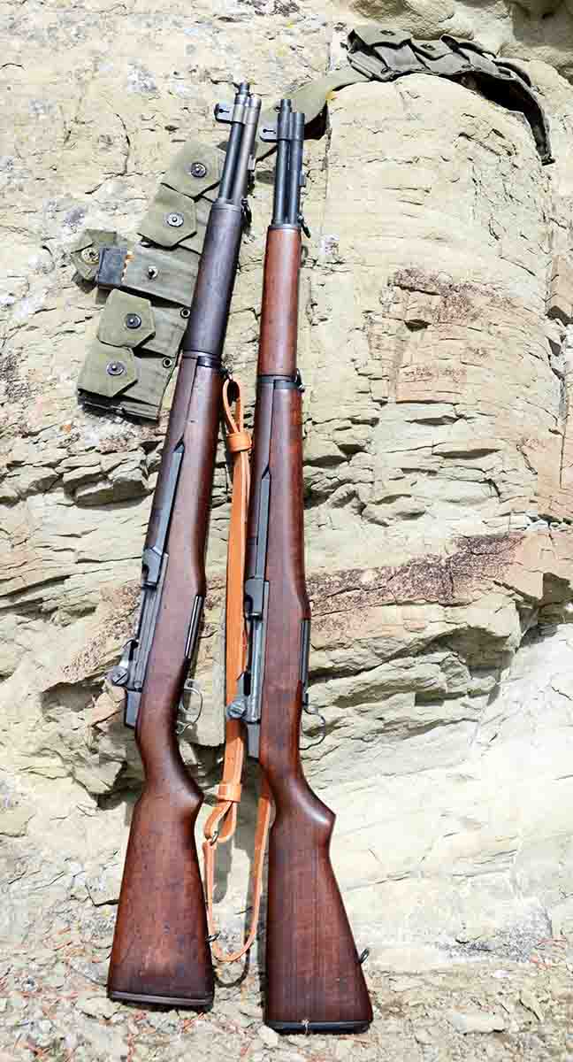 M1 Garands were the last infantry .30-06 rifle adopted by U.S. military forces. Mike's are of World War II vintage. At left is a Winchester beside a Springfield Armory.