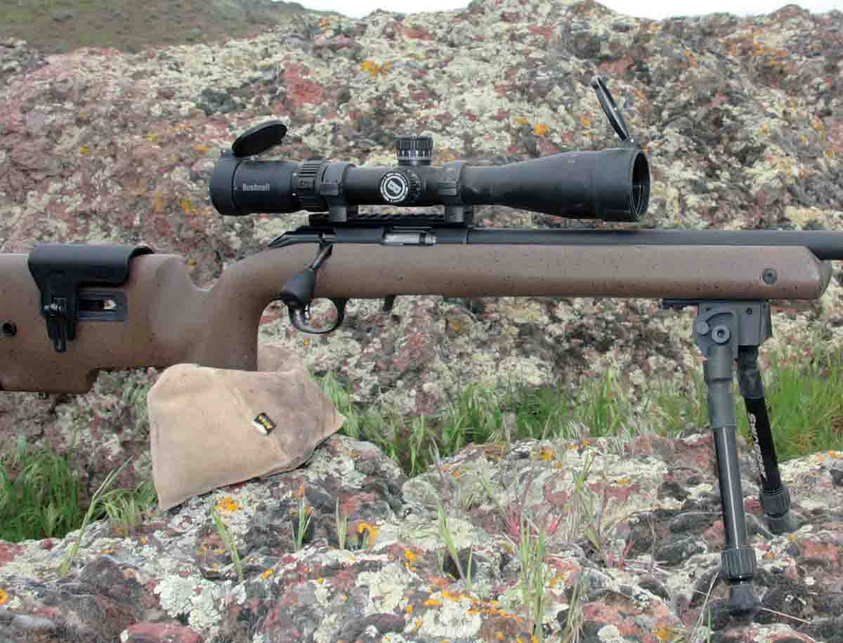 While testing Bushnell's Engage 2.5-10x 44mm scope, Patrick shot Ruger's American Rimfire Long-Range Target rifle.