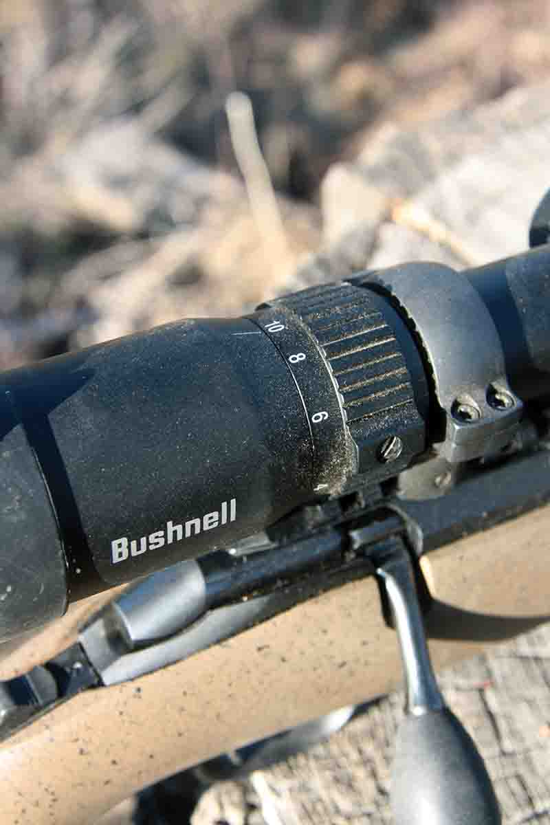 The Bushnell Engage scope reviewed included a 2.5-10x magnification range.