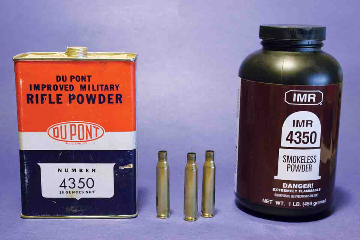 The introduction of DuPont Improved Military Rifle Powder Number 4350 in 1940 – at the time, the slowest burning powder available to handloaders – really did improve velocities in many centerfire cartridges, including the .257 Roberts. However, factory .257 ammunition continued to be loaded to 1930's velocities until almost 1990.