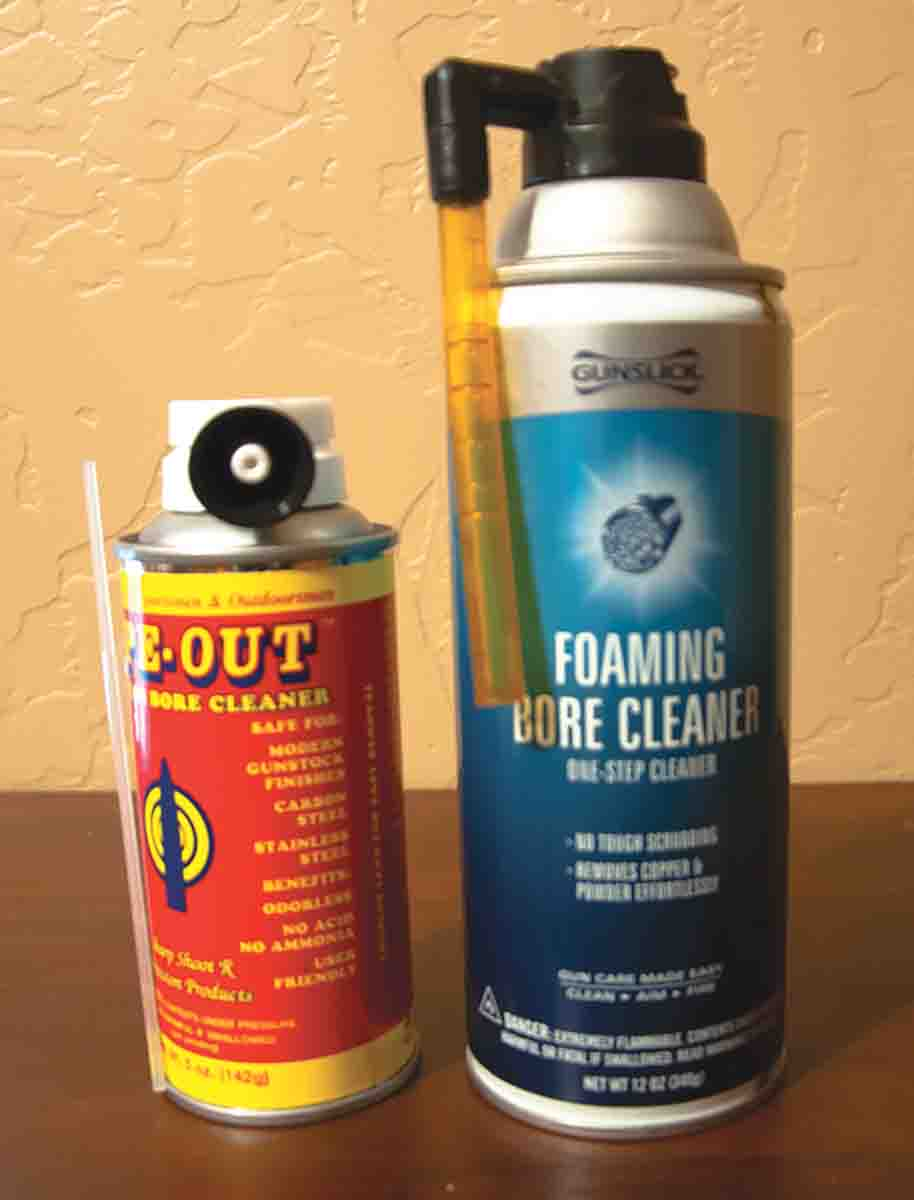 New foaming bore cleaners do a quick job of breaking down copper and powder fouling.