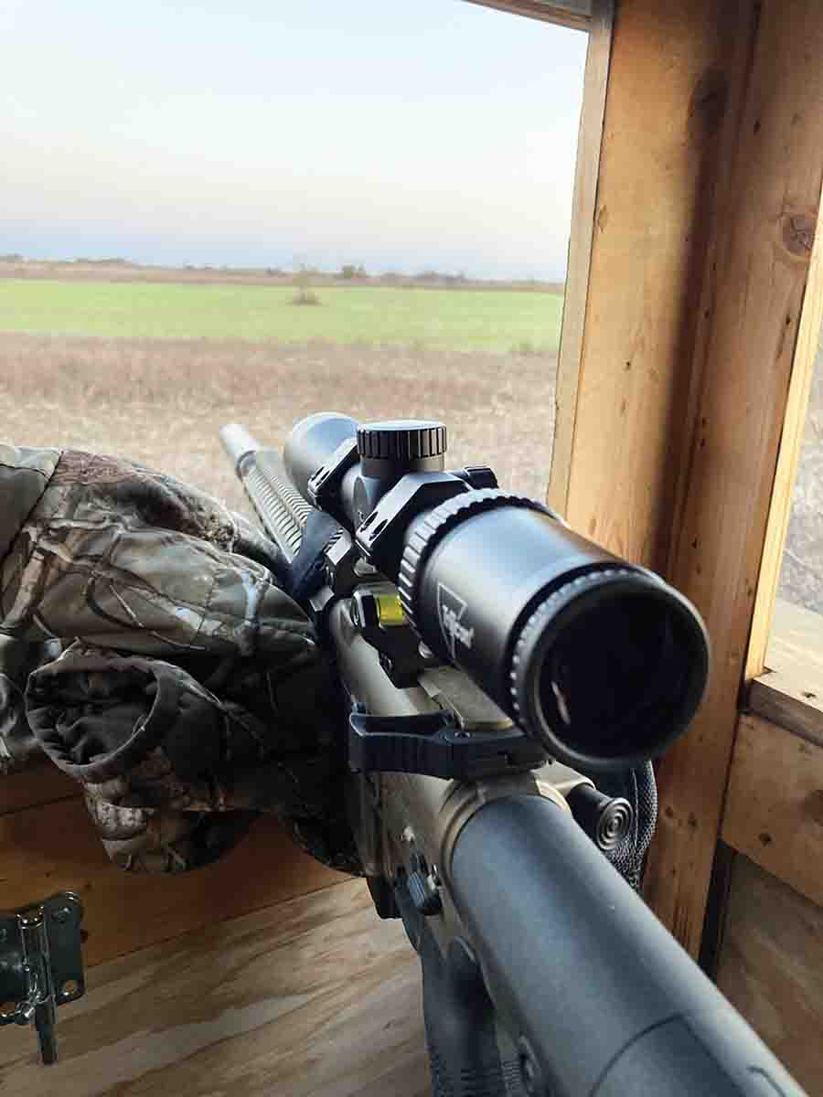 The Trijicon Huron tested included a fully adjustable ocular ring to accommodate any eyesight.