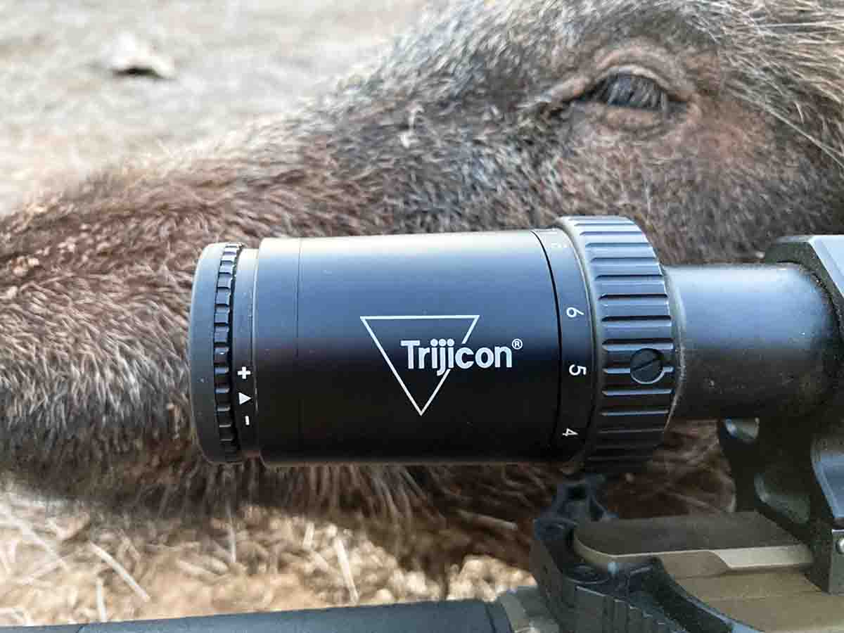 The Huron 2.5-10x 40mm riflescope provided excellent light transmission during low-light hours via a combination of a 30mm tube, advanced lens coatings and .58- to .16-inch exit pupils.
