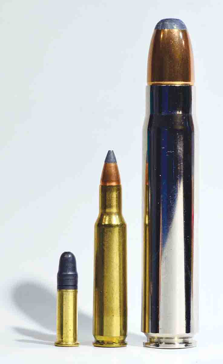 The R8 can be mixed and matched to not only accommodate these three wildly disparate cartridges – .22 LR, .222 Remington, .500 Jeffery – but 40-plus more.