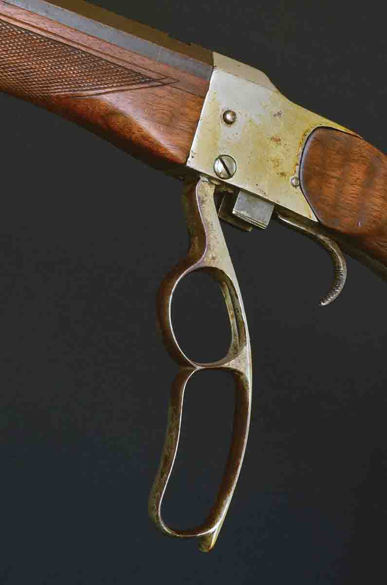 This uniquely hammerless .32-40 was designed by Milton W. Farrow, a famous offhand shooter in the 1900s.